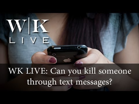 Can you commit murder through text messages?