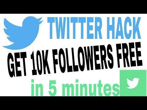 how to get 10000+ followers on twitter free in 5 mins!! 100% works