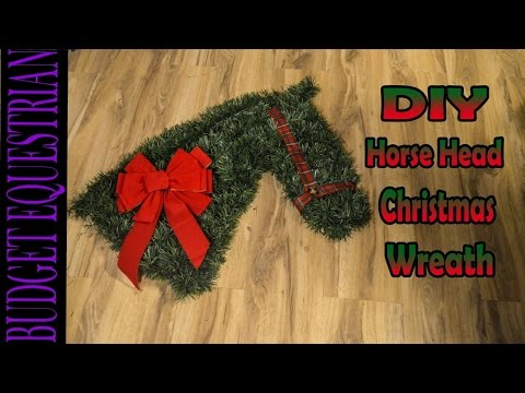 How To Make A Horse Head Christmas Wreath