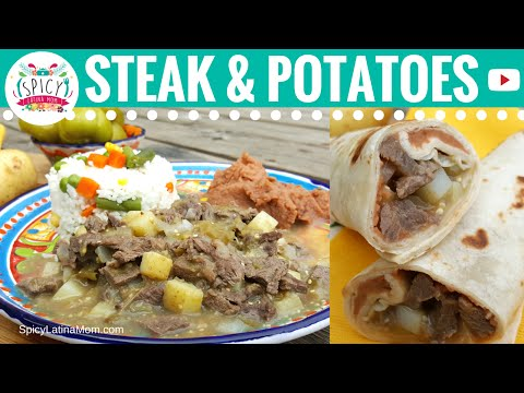 Steak and Potatoes Burritos | Mexican Food - Spicy Latina Mom