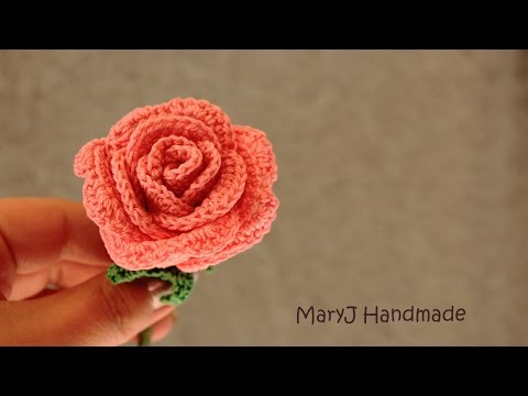 Tutorial: how to crochet a rose | in English