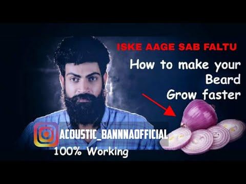 How to grow your beard faster | 100% working