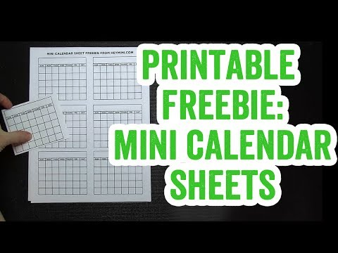 Free Printable Mini Calendar