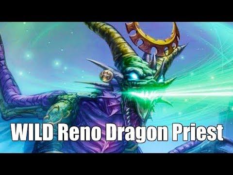Hearthstone [WILD] Reno Dragon Priest: Punishing aggro decks, Ysera value, Dirty Rat vs Reno (1080p)