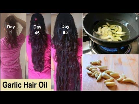 Homemade Garlic Hair Oil for Double Hair Growth - Garlic Hair Oil to get Long hair, Stop hairfall