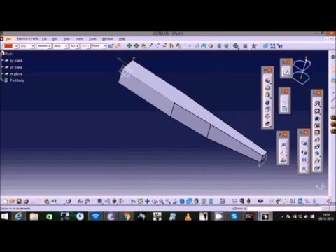 How to create your own RC aircraft using Catia V5, Part-2