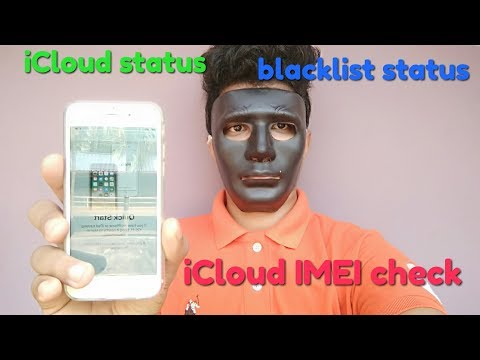 iPhone iCloud lock status check with IMEI || blacklist status, find my iPhone status, iCloud status,