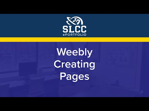 Weebly: Creating Pages