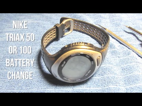 Nike Triax 50 or 100 Battery Change