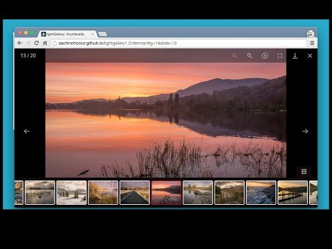 Image Gallery: jQuery, CSS, HTML and Javascript | jQuery Lightbox