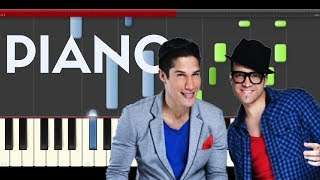 Chino y Nacho Andas en mi Cabeza piano midi tutorial sheet karaoke cover
