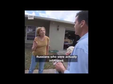 CNN Ambushes Trump Supporter at Her Home Accuses Her of Colluding With Russians