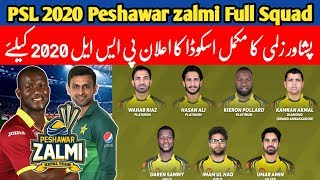 Peshawar zalmi 16 confirm squad | Pakistan super league 2020 | Mussiab Sports |