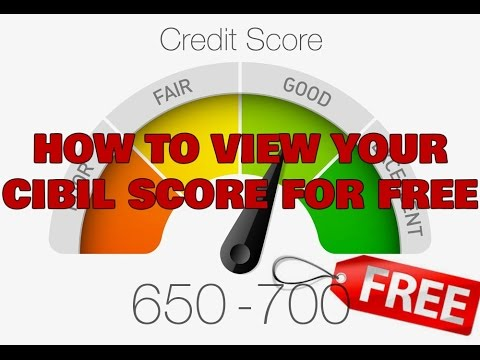 How to check your cibil score for free