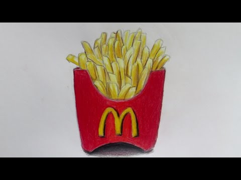 Realistic McDonald's Fries (Speed Drawing)