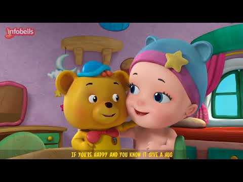 If You're Happy and You Know It - Teddy Bear version | Rhymes for Children | Infobells