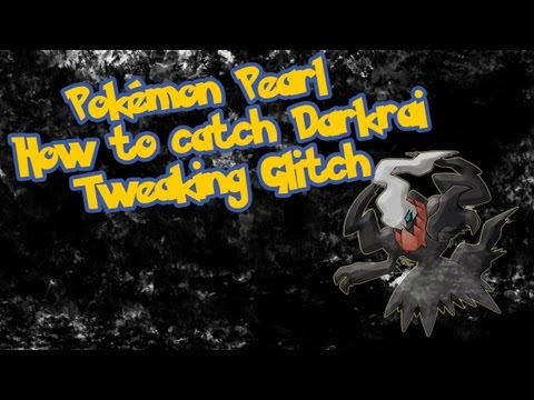 Pokemon Diamond/Pearl (TAS) Catch Darkrai with 2. Badges [Tweaking Glitch]
