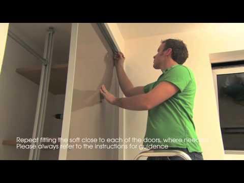 Fitting Sliding Wardrobes soft close [SlidingWardrobeWorld.com]