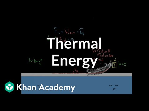 Thermal energy from friction | Work and energy | Physics | Khan Academy