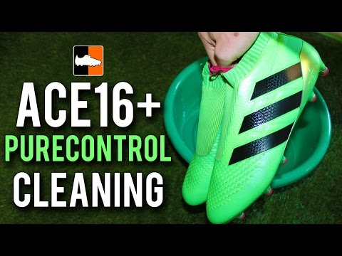 How to clean ACE 16 Purecontrol Football Boots |  Laceless adidas ACE16+ Soccer Cleats