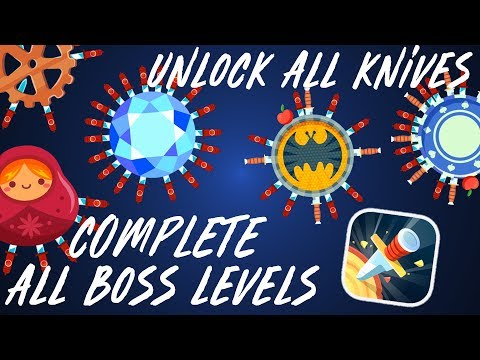 HOW TO BEAT ALL BOSS LEVELS + UNLOCK ALL KNIVES (knife hit)