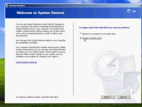 How To Do A System Restore in Windows XP