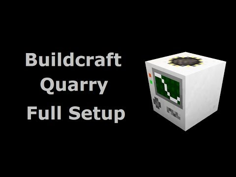 Buildcraft Quarry Full Setup (Tekkit/Feed The Beast) - Minecraft In Minutes