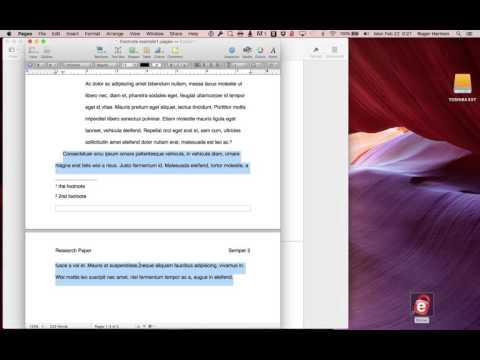 Footnote creation in Apple Pages v4 & v5