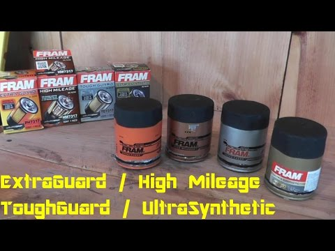 Fram Oil Filter Review: EXTRA GUARD - TOUGH GUARD - High Mileage - Ultra Synthetic