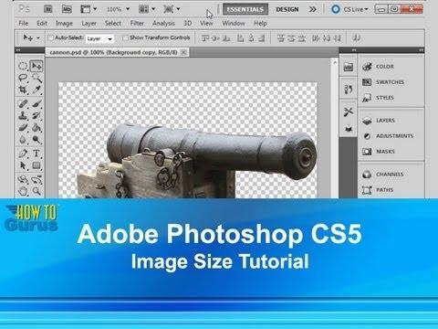 Adobe Photoshop CS5 Image Size Tutorial - Photoshop Image Size and Resolution Tools