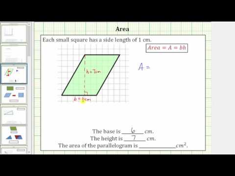 Determine the  Area of a Parallelogram on a Grid