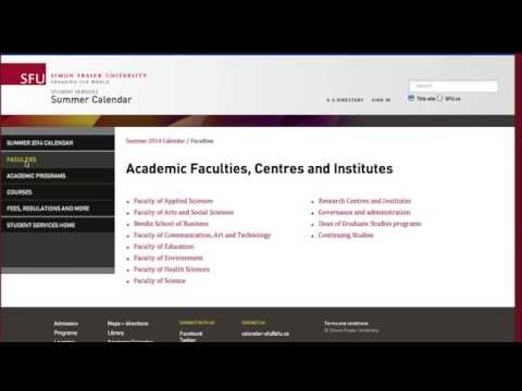 SFU 101 -- Academic Calendar