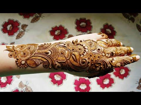 Arabic Henna Design With Shading On Backside 2017 Eachnow Com