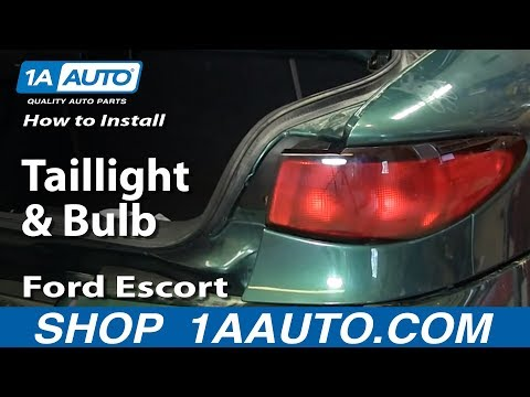 How To Install Replace Taillight and Bulb Ford Escort ZX2 98-03 1AAuto.com