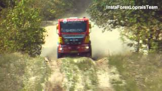 Aleš Loprais-Peter Versluis TESTING MAN DAKAR truck powered by InstaForex,Eurol,Veka Team!