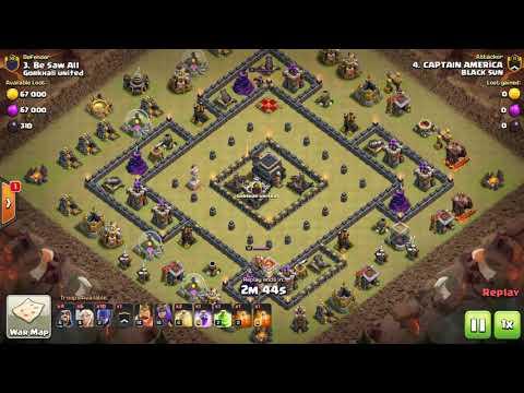 TH9 Mass Witch Attack!?| 3 star war... GOHO th9 startegy?!