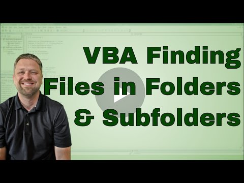 VBA Code to quickly Find All files within a folder and sub folder - Code Included