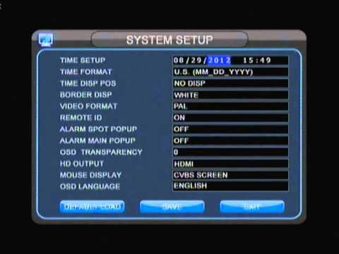 2M Technology DVR How to change time and date (Arabic Version)
