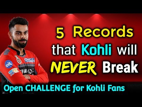 - 5 IPL Records that Kohli can NEVER Break, Kohli CAN NOT Break these 5 records  of IPL | IPL 2018