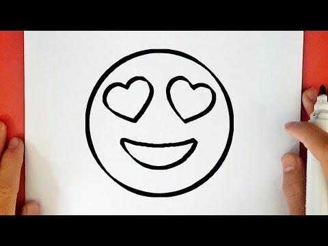 HOW TO DRAW A HEART EYES EMOJI