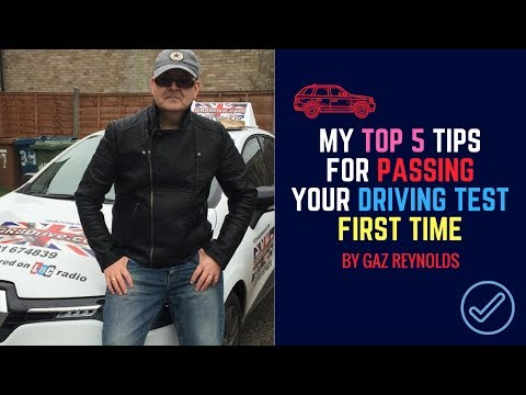 MY TOP 5 TIPS FOR PASSING YOUR UK DRIVING TEST FIRST TIME PLUS ADVICE