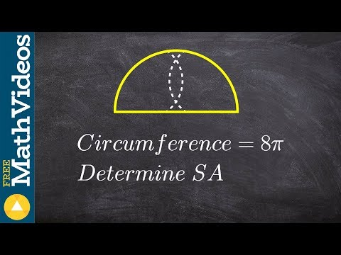 Geometry - Given the circumference how do you find the surface area of a hemisphere