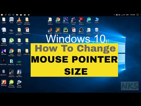 How to change mouse pointer size on windows 10