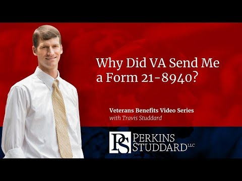 Why Did VA Send Me a Form 21-8940?