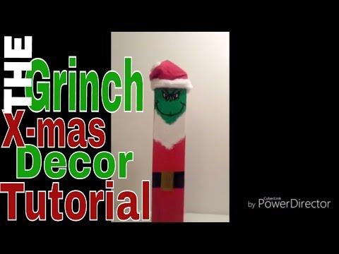 Grinch Xmas decor tutorial   Ashley Little Fawn