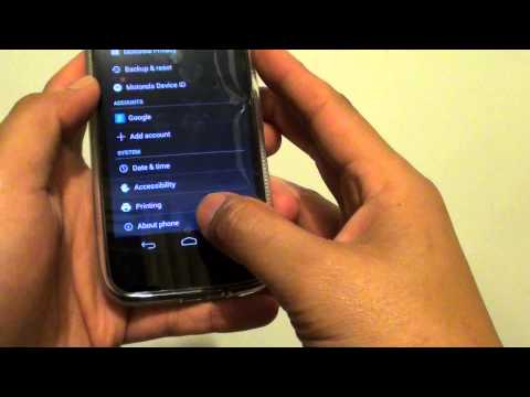 Motorola MOTO G: How to Find the IP Address