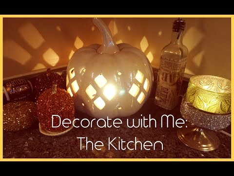 Speed Clean & Decorate with Me: The Kitchen   Fall Autumn 2017