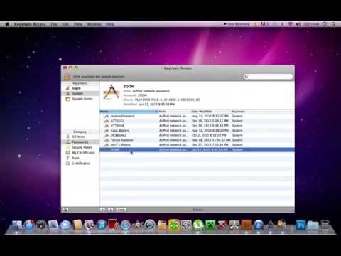 how to find out your password for your enternet  MAC