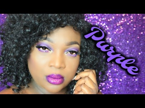 Dark Skin || Purple Makeup Look