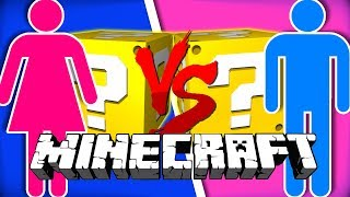 Minecraft: BOY VS GIRLS LUCKY BLOCK CHALLENGE | MINI-GAME CHALLENGE!!